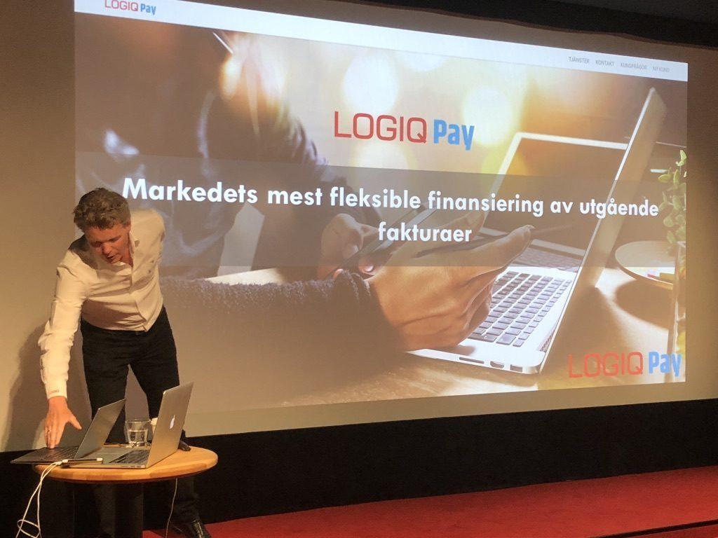 Anders Idebøen presenterar LogiqPay.